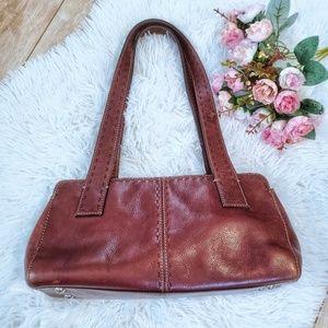 Fossil Leather Rectangular Shoulder Bag Purse